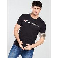 Champion T-Shirt, Black, Size Xl, Men