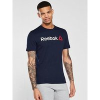 Reebok Linear T-Shirt, Navy, Size Xl, Men