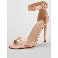 V by Very Wide Fit Bellasima High Minimal Sandal, Nude, Size 7, Women