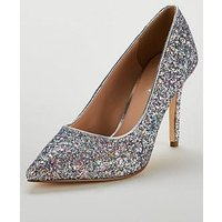 V by Very Colarado High Point Court Shoe - Silver, Silver, Size 5, Women