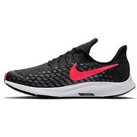 Nike Air Zoom Pegasus 35 Junior Trainer, Black/Pink, Size 4