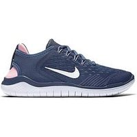 Nike Free Rn 2018 Junior Trainer, Blue/White/Pink, Size 4