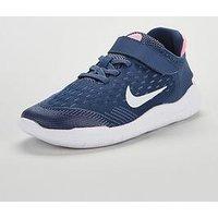 Nike Free Rn 2018 v Childrens Trainer, Blue/White/Pink, Size 2