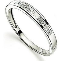 Love DIAMOND Platinum 25 Point Diamond Channel Set Eternity Ring, Size U, Women
