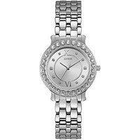 Guess Blush Silver and Stone Set Dial Silver Stainless Steel Ladies Watch, One Colour, Women