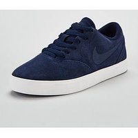 Nike SB Check Suede Junior - Navy , Navy, Size 3