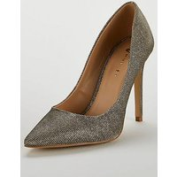 V by Very Chic High Point Court Shoe - Silver/Gold, Silver/Gold, Size 8, Women
