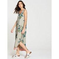 NATIVE YOUTH Printed Midi Dress - Stone, Stone, Size Xs, Women