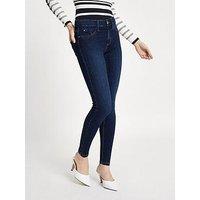 RI Petite Molly Xtra Short Leg Hula Jeans - Navy, Dark Authentic, Size 10, Women