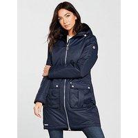 Regatta Romina Waterproof Long Jacket - Navy , Navy, Size 14, Women
