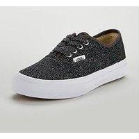 Vans Authentic Glitter Junior Trainer, Black Glitter, Size 11