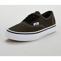 Vans Authentic Junior Trainer, Khaki, Size 1