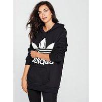 adidas Originals Boyfriend Trefoil Hoodie - Black , Black, Size 6, Women