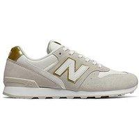 New Balance 996 Classic Running - Beige/Gold , Beige/Gold, Size 3, Women