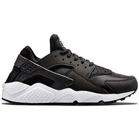 Nike Air Huarache Run - Black, Black/White, Size 4, Women