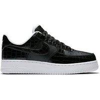 Nike Air Force 1 '07 Essential - Black/White , Black/White, Size 5, Women