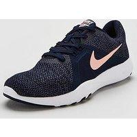 Nike Flex Trainer 8 - Navy/Pink , Navy/Pink, Size 7, Women
