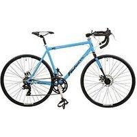 Falcon Falcon San Remo - Mens Steel Road Bike 14 Spd With Dual Disc Brakes, Blue/Black, Men