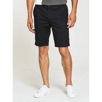 V by Very Chino Shorts, Black, Size 30, Men