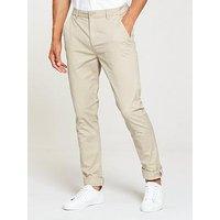 V by Very Slim Fit Stretch Chino, Stone, Size 30, Inside Leg Regular, Men