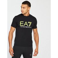 Emporio Armani EA7 Fluo T-shirt, Black, Size M, Men