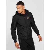 Emporio Armani EA7 Hooded Jacket, Black, Size S, Men