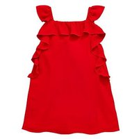 Mini V by Very Girls Frill Sundress - Red, Red, Size 4-5 Years, Women