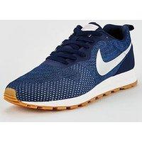 Nike MD Runner 2 Engineered Mesh, Navy/Silver, Size 7, Men