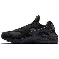 Nike Air Huarache Run, Black/Black, Size 10, Men
