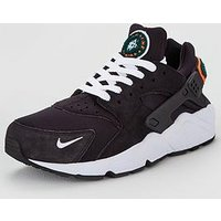 Nike Air Huarache Run Premium, Black, Size 10, Men