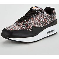 Nike Air Max 1 Premium - Black/White/Orange, Black/White/Orange, Size 6, Men