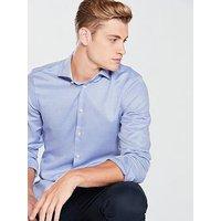 Tommy Hilfiger Classic Slim Shirt, Light Blue, Size 15, Men