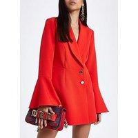 Ri Petite Tux Playsuit- Red