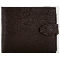 V by Very Brown Leather Textured Wallet, Brown, Men