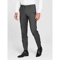 Calvin Klein Calvin Klein Modern Textured Suit Trouser, Forged Iron, Size 30, Inside Leg Regular, Men
