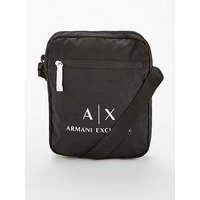 Armani Exchange Logo Crossbody Bag, Black, Men