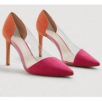 Mango Alegra Clear Detail Court Shoe - Orange, Orange, Size 6, Women
