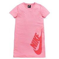 Nike OLDER GIRLS NSW TSHIRT DRESS, Pink, Size Xl=13-15 Years, Women