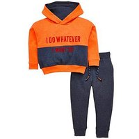Boys, Mini V by Very I Do Whatever I Want' Sweat Set, Multi, Size Age: 4-5 Years