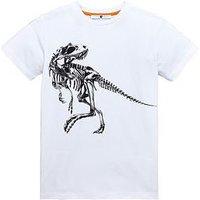 Boys, V by Very Dino Skeleton Tee, White, Size 11 Years