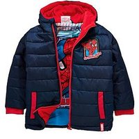 Boys, Spiderman SPIDER MAN Padded BOYS COAT, Blue, Size Age: 8 Years