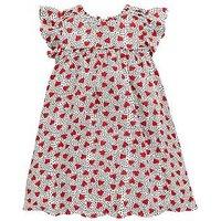 Mini V by Very Girls Heart Print Dress, Multi, Size 3-6 Months, Women