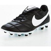 Nike Mens Premier Firm Ground Football Boot - Black/White , Black, Size 7, Men