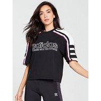 adidas Originals AA-42 Tee - Black/White/Pink , Black, Size 10, Women
