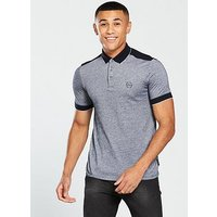 Armani Exchange Armani Exchange Contrast Collar Polo Shirt, Navy, Size 2Xl, Men