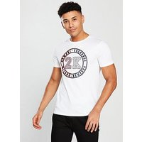 Armani Exchange 2k Logo T-shirt, White, Size L, Men