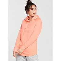 adidas Dipped Hem Hoodie - Light Coral , Light Coral, Size S, Women