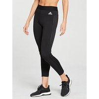 adidas Essentials 3 Stripe Tight - Black, Black, Size Xl, Women