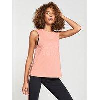 adidas Essentials Slim Sleeveless Tee - Light Coral , Light Coral, Size S, Women
