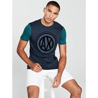 Armani Exchange Logo T-shirt, Navy/Pond, Size S, Men